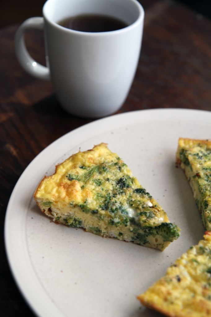 broccoli and feta frittata