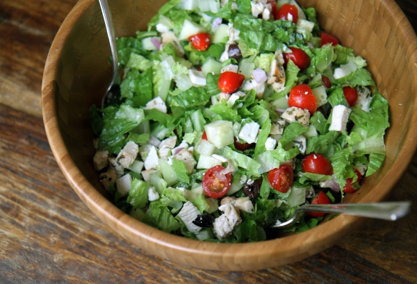 tarragon chopped chicken greek salad