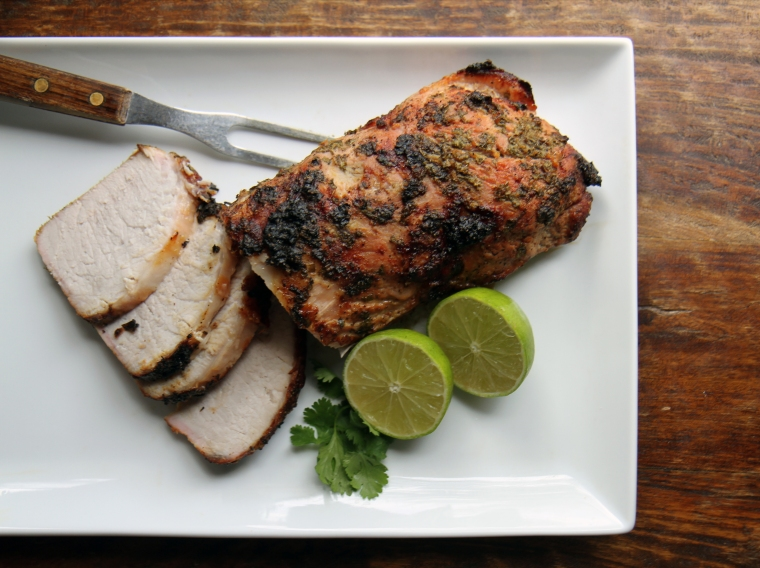 cilantro and citrus marinated pork loin