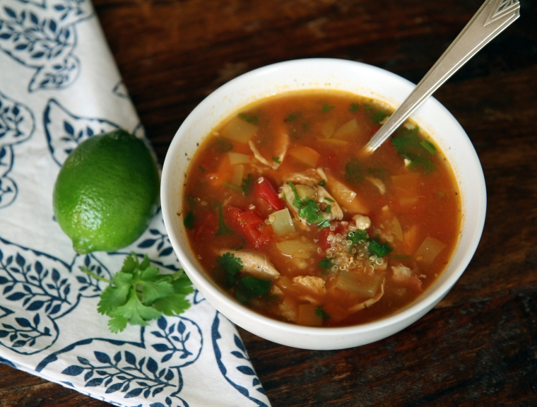 mexican turkey and quinoa soup