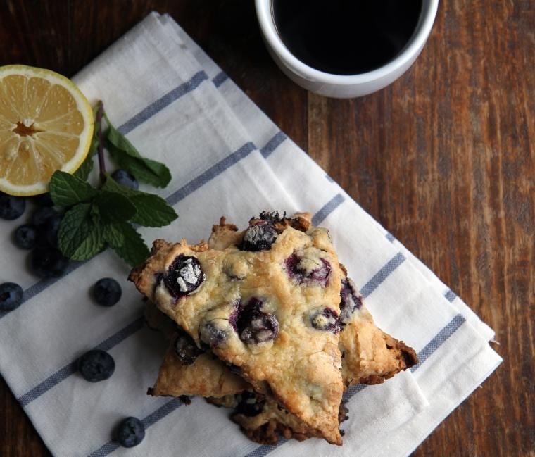 blueberry and lemon scones
