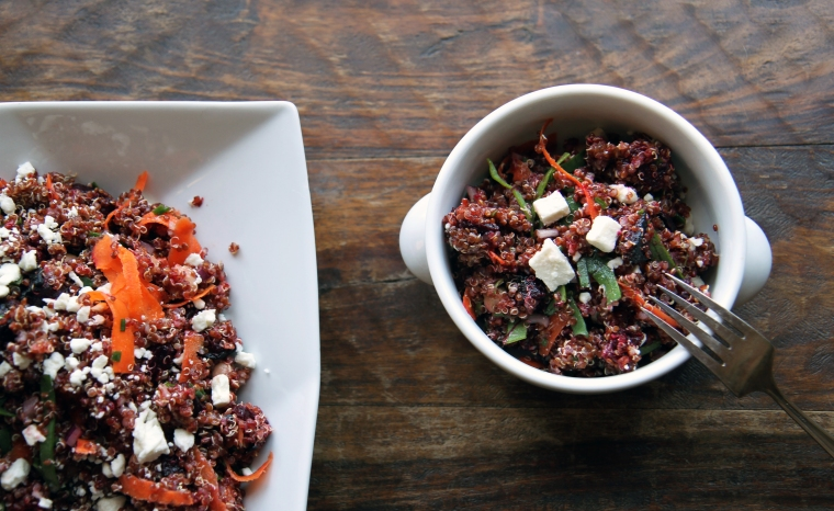 beet and red quinoa salad